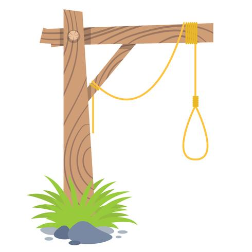 Flat Gallows Vector