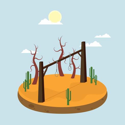 Gratis galg bij woestijn illustratie