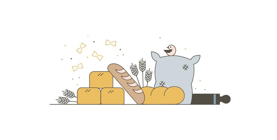 Kostenlose Backwaren Vektor