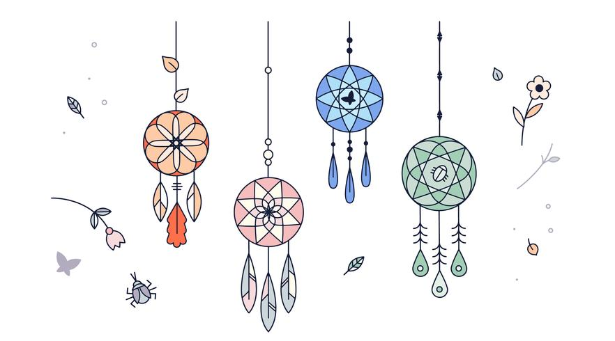 Free dreamcatcher vector download free vector art stock for Dream catcher graphic