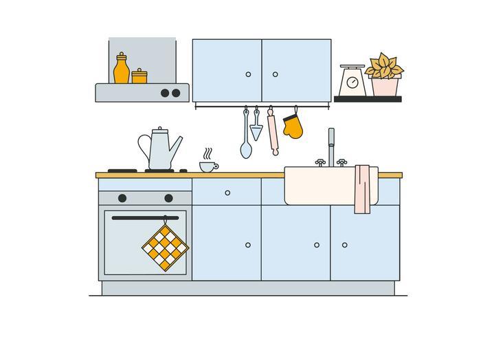 Kostenlose Küche Vektor - Kostenlose Vektor-Kunst, Archiv-Grafiken ...