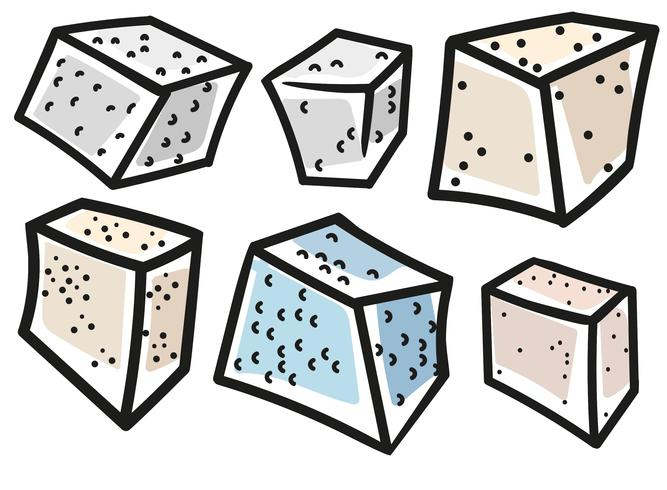 Vector Cartoon Style Tofu