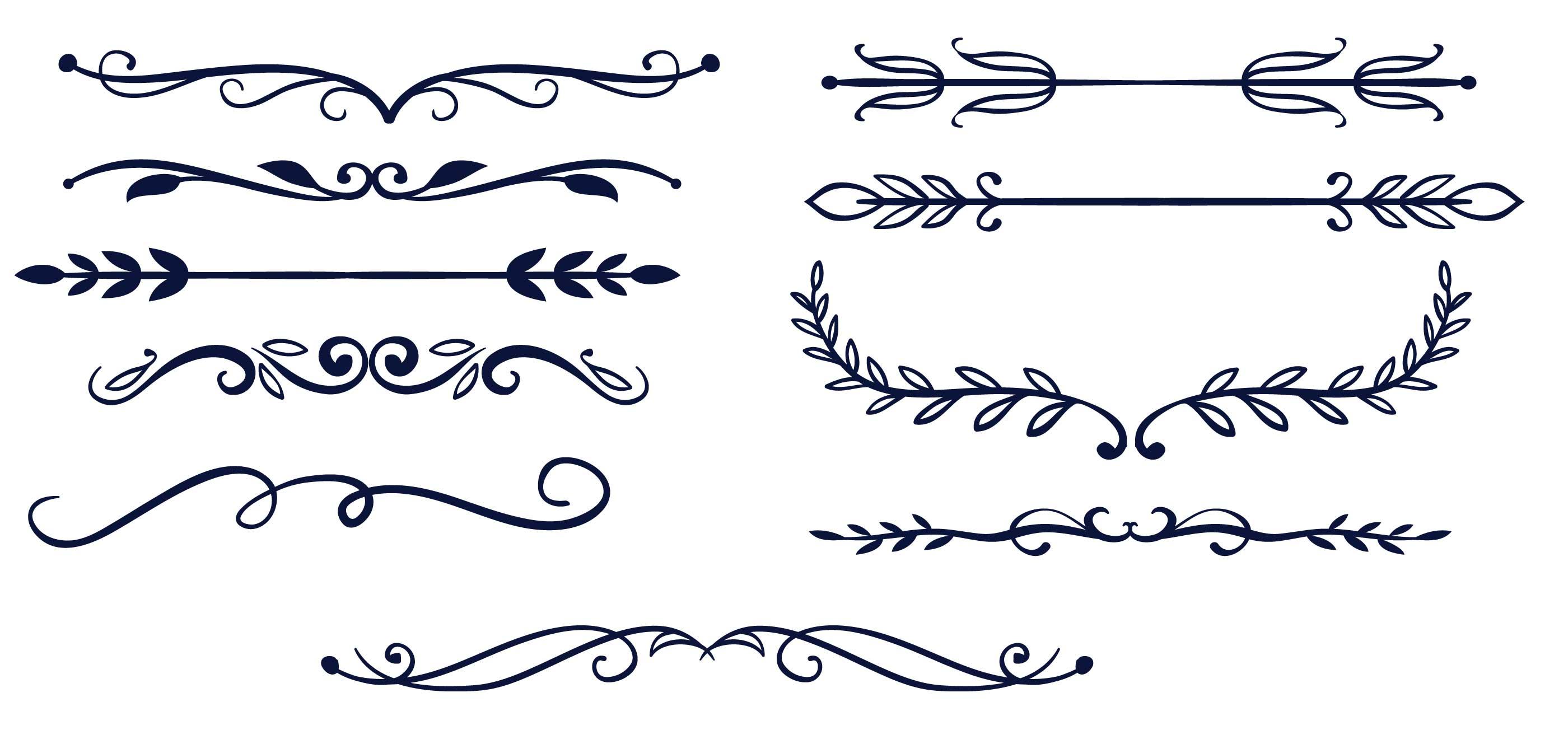Simple Vector Line Art : Free simple dividers vectors download vector art