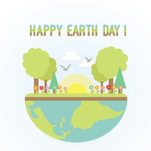 Kostenlose Happy Earth Day Vektor