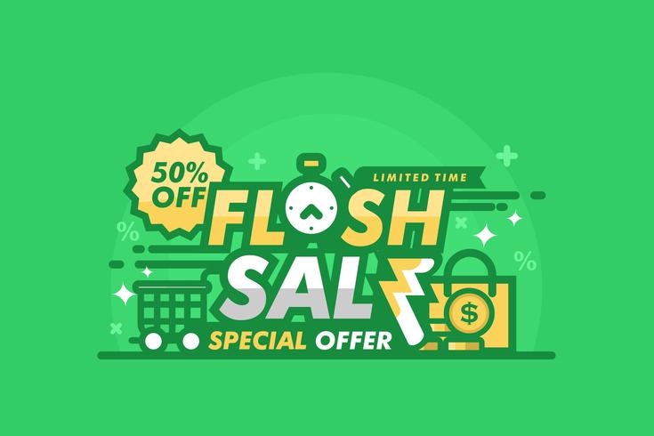 Ilustração de flash de preço verde