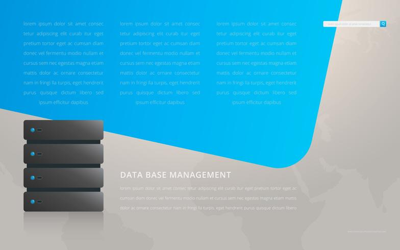 Data Base Page Template Preview