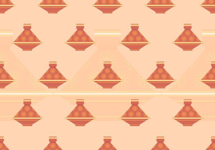 Tajine marockanska sömlösa mönster