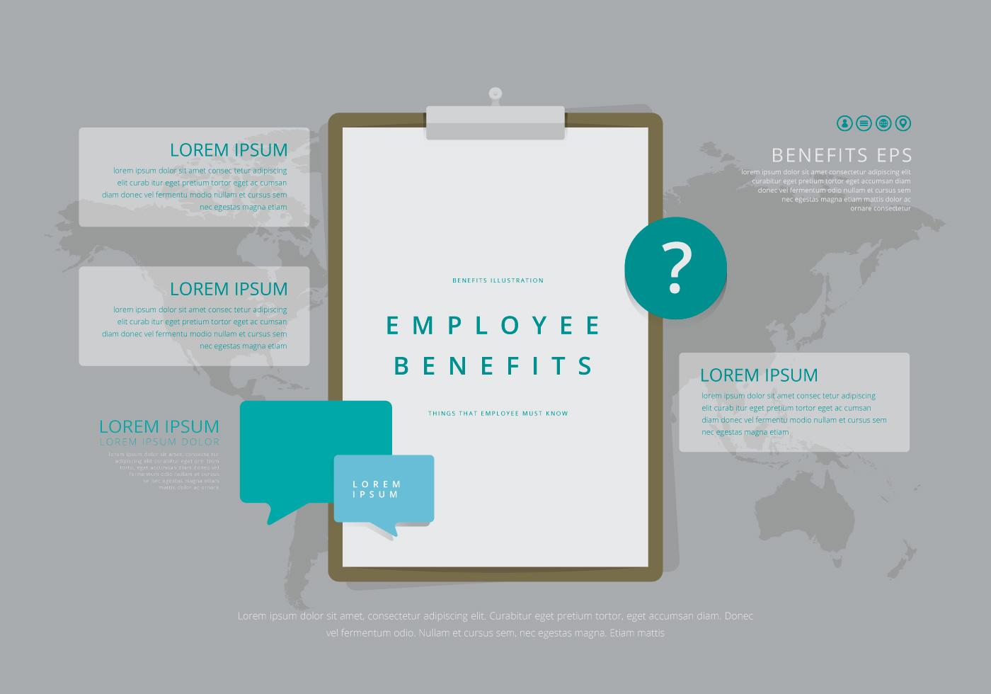 employee benefits infographic templates