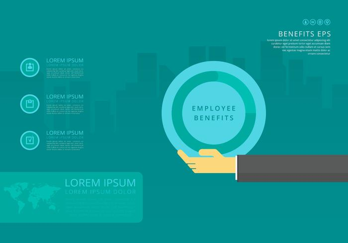 Medarbetarfördelar Infographic Templates