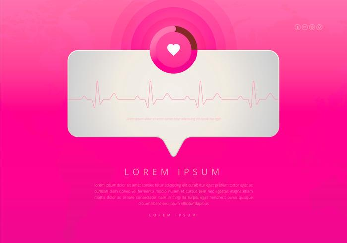 Heart Rhythm Monitor, Medical Cardio Illustration. Message reminder.