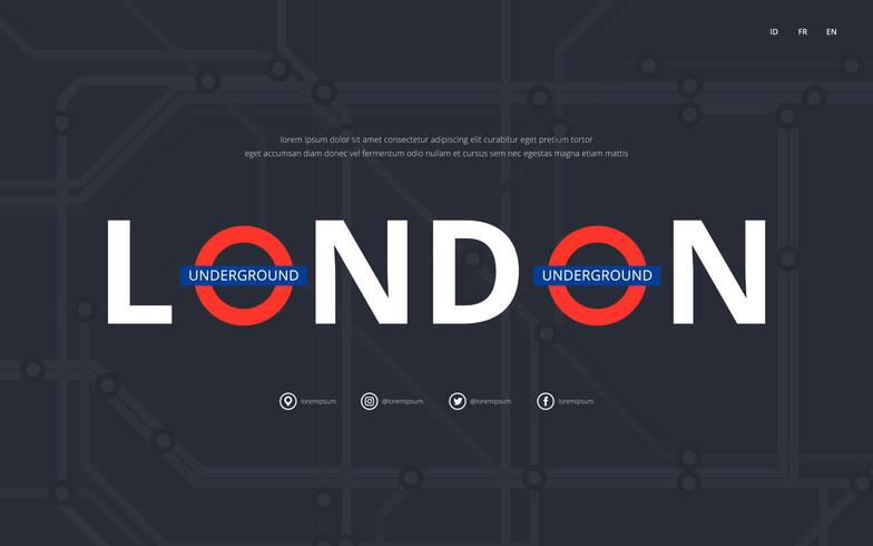 Tube Map London Transportation Campaign. Underground Railway. Metro Mass Transportation Campaign.