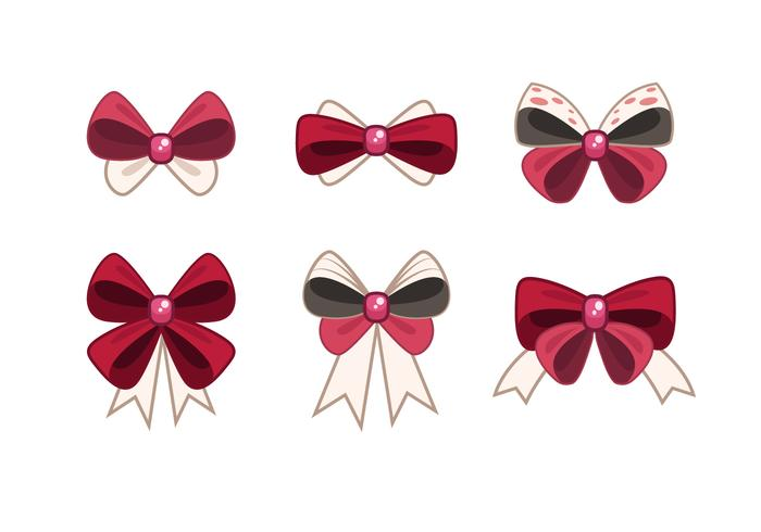 Cute Hair Ribbon Vector Items