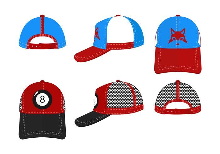 Trucker Hats Vector Set