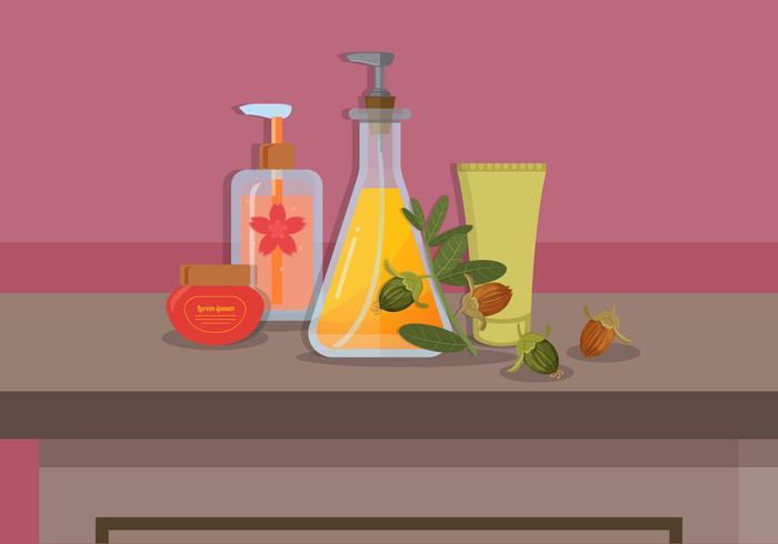 Jojoba olje vektor illustration