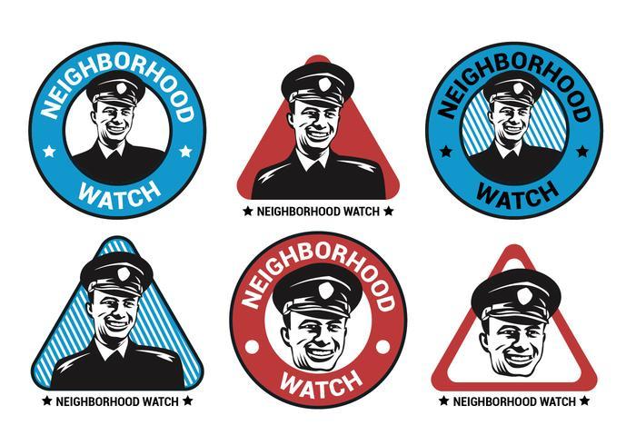 Neighborhood Watch Vector Logo Collection