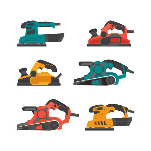 Pneumatic Tools Colorful Vector Collection