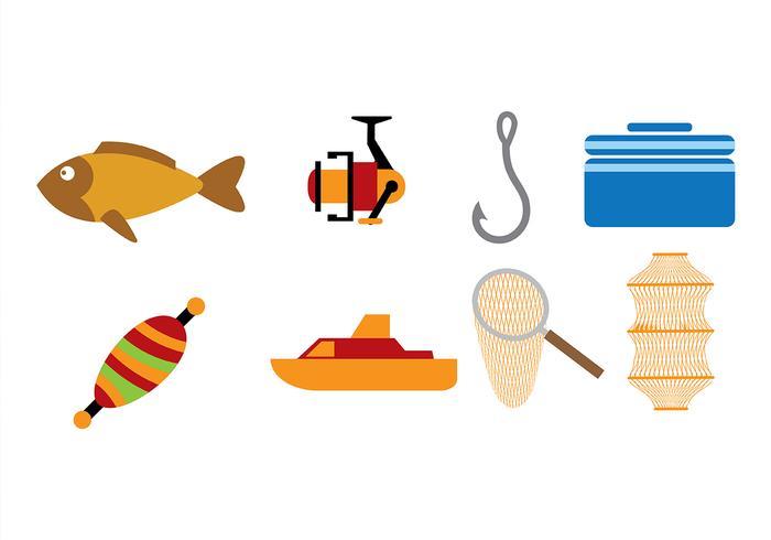 Vectores de iconos de pesca