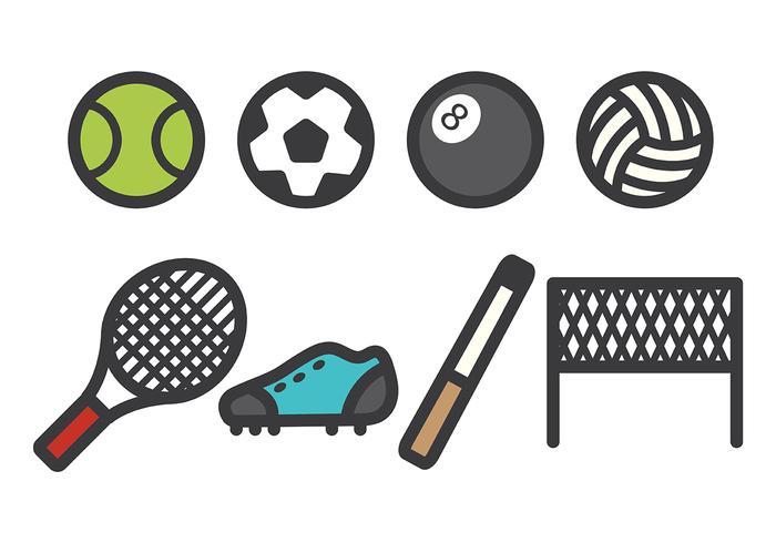 Vetor de ícones esportivos