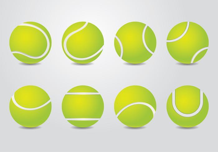 Vector de pelota de tenis
