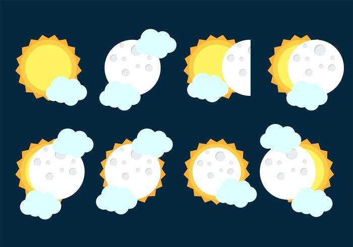 zonsverduistering pictogram vector