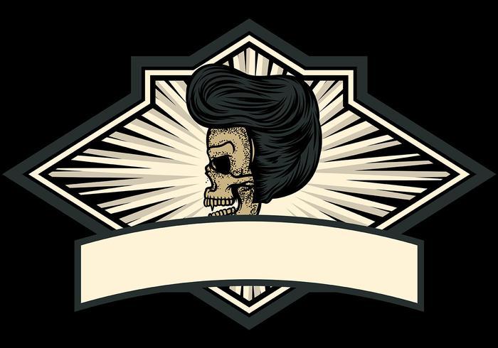 Skull Greaser Badge vector