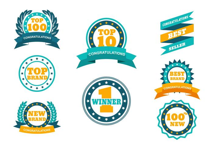 TOP Badge Vector Set