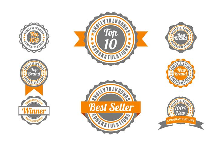 TOP-badge Vector Set