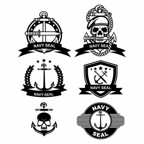 Navy seal badge vektorer