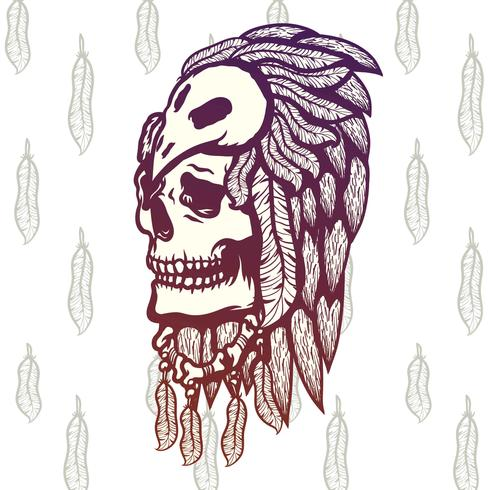 Shaman Skull Illustration