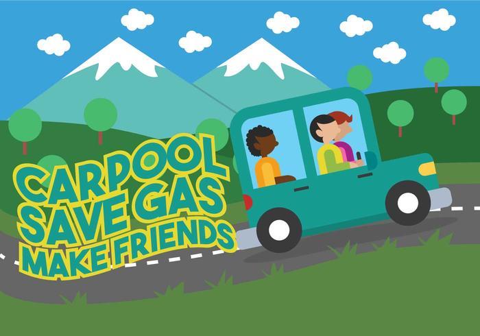 Ilustración de vector de carpool