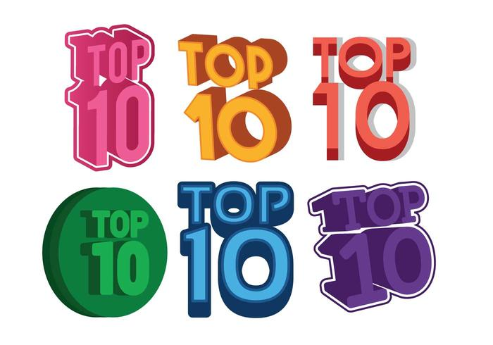 Top 10 set vettoriale