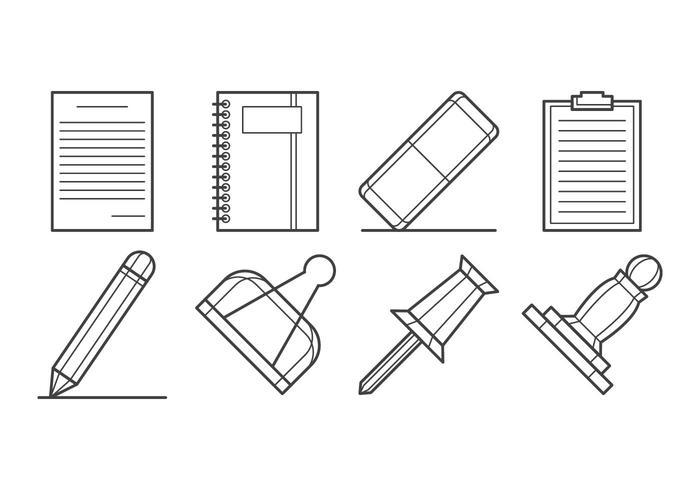 Free Paper Supplies Icon Set