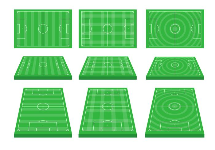 Voetbalgrond Vector Set