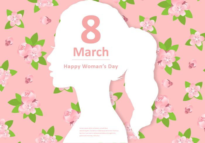 Floral Woman27;s Day Vector