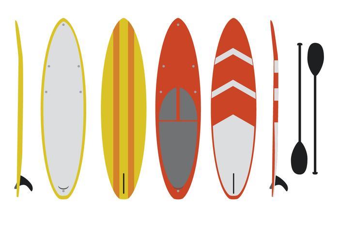 platte paddleboard vector set