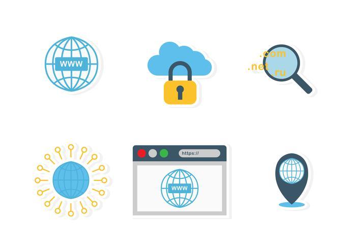 Set di icone di Internet