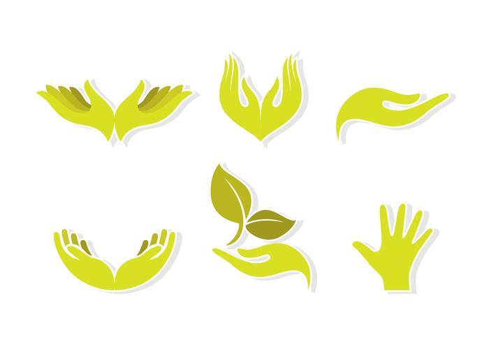 Adesivo mani di guarigione verde