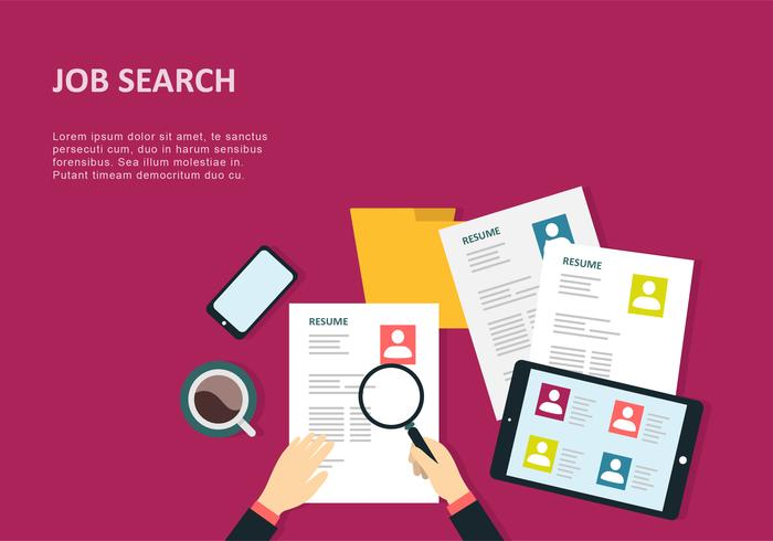 Job Search Background Design Vector