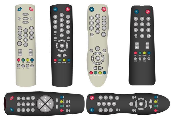 Realistic TV Remote Vectors