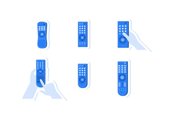 Flat TV Remote Vectors