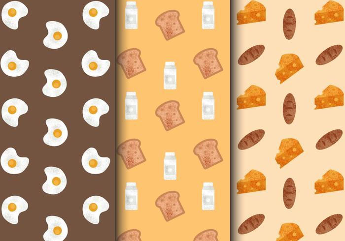 Free Cute Breakfast Food Patterns