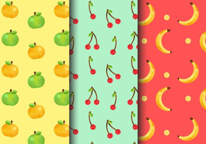 Free Seamless Fruit Patterns vector