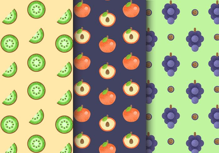 Free Seamless Fruit Patterns