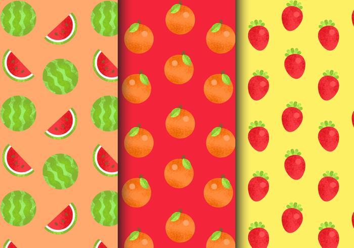 Gratis Seamless Fruit Patterns vektor