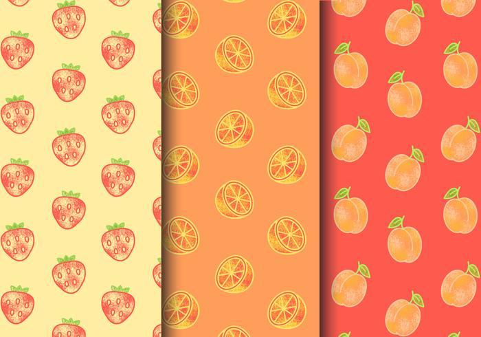 Patrones de fruta sin costuras gratis