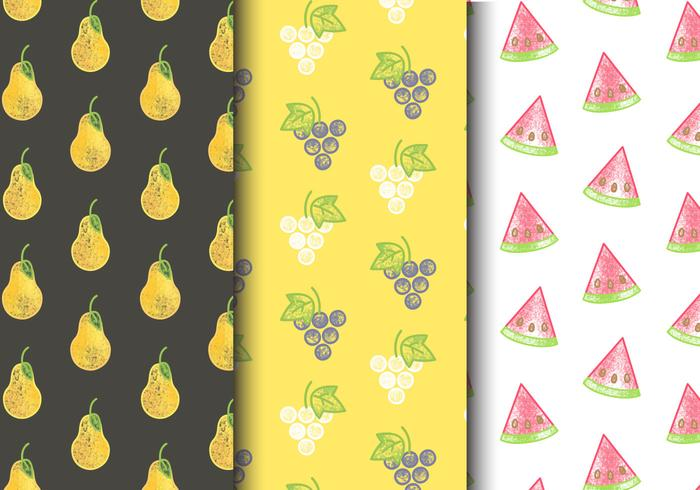 Gratis Seamless Fruit Patterns