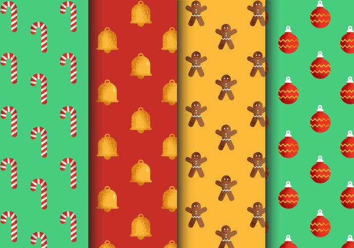 Free Seamless Christmas Patterns vector