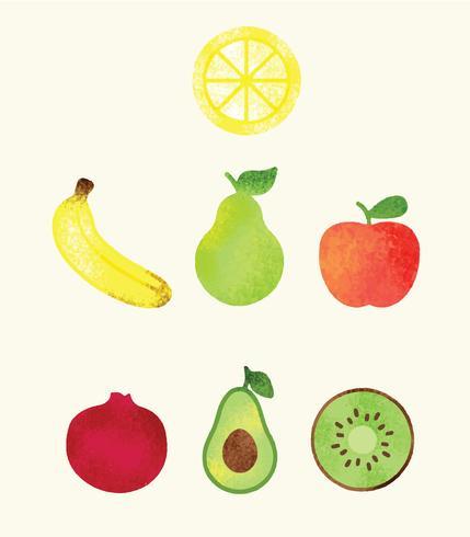Gratis hälsosam frukt vektor