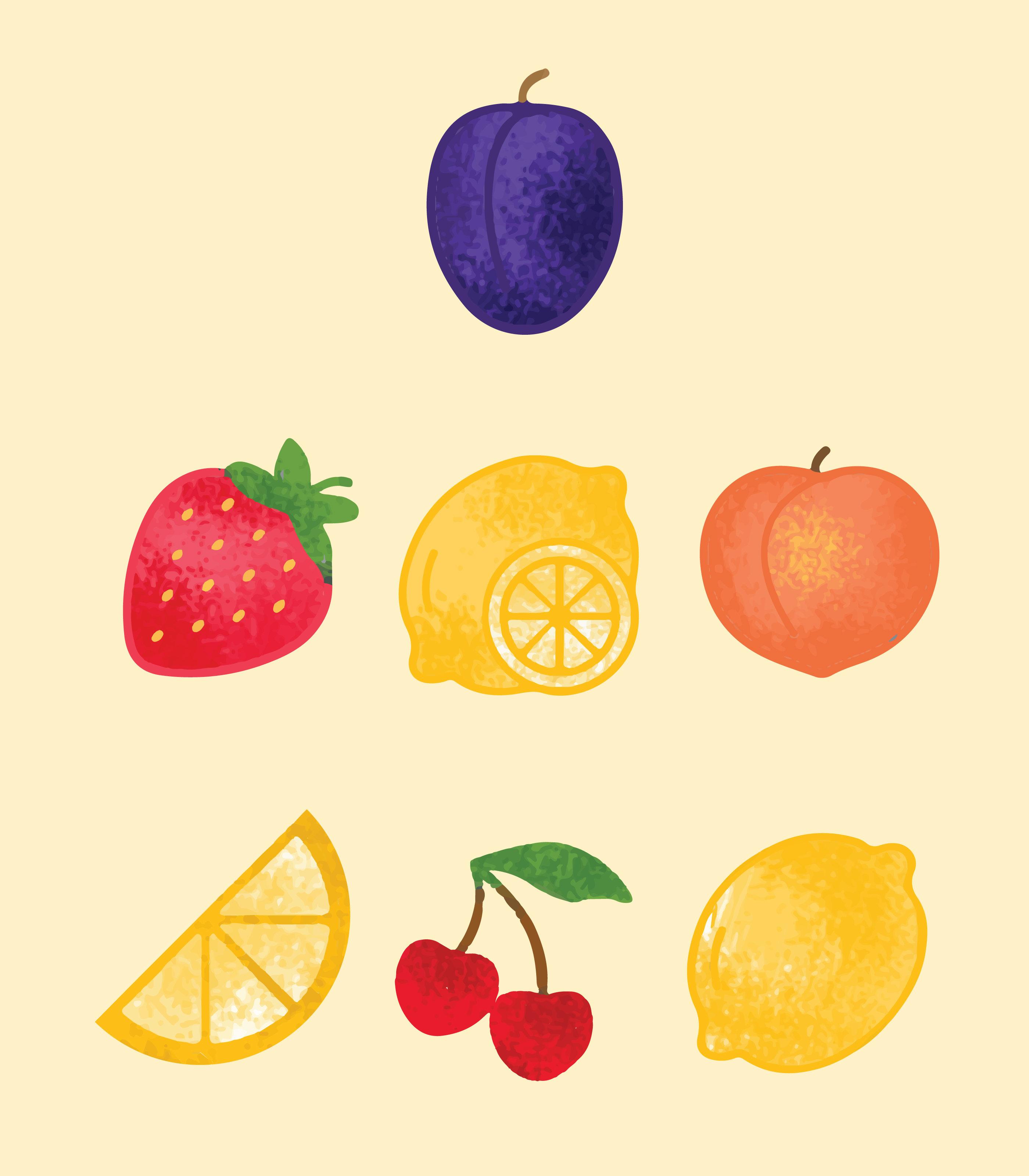 手繪水果 免費下載 | 天天瘋後製