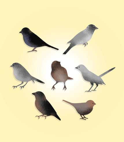 Free Textured Birds Vector